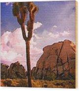 Joshua Trees 2 Wood Print
