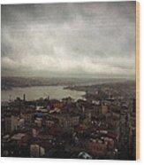 jour de pluie a Istanbul III Wood Print
