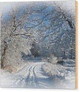 Journey Into Winter Wood Print by Teresa Schomig