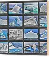 Journey's End For Vanishing Icebergs Assemblage In Saint Anthony-newfoundland  Wood Print