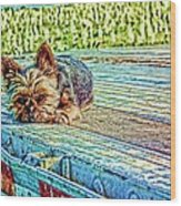 'jovie' Truckin Dogs Need Breaks Too Wood Print