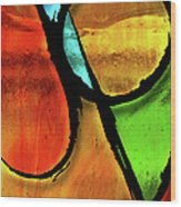 Joy-abstract Wood Print by Shevon Johnson