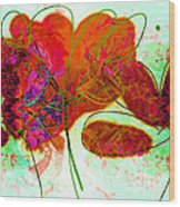 Joy Flower Abstract Wood Print