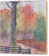 Joy of Fall Wood Print