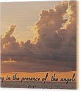 Joy Of The Angels Wood Print