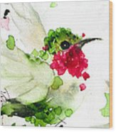 Joyful Flight Wood Print