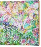 Joyful Flowers By Jan Marvin Wood Print