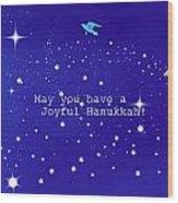 Joyful Hanukkah Card  Wood Print
