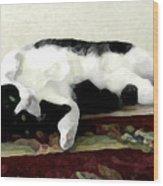 Joyful Kitty Wood Print