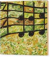 Joyful - Lemon Lime Wood Print