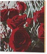 Joyful Roses   Wood Print