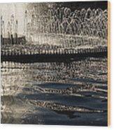 Joyful Sunny Splashes Wood Print