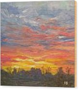 Joyful Sunset Wood Print