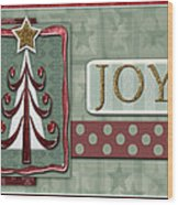 Joyful Tree Card Wood Print