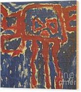 J's Interpretation Wood Print