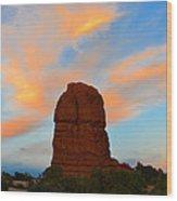 Lone Butte Wood Print
