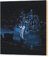 Jt #10 In Blue Wood Print