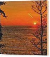 Juan De Fuca Sunset Wood Print