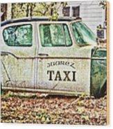 Juarez Taxi Wood Print