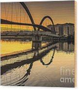 Jubia Bridge Naron Galicia Spain Wood Print