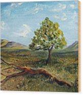Jubilant Fields Wood Print