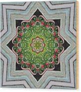 Jubilant Mandevilla Kaleidoscope Pattern Wood Print