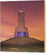 Jubilee Tower At Night Wood Print