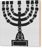 Judaism Candelabra Wood Print