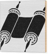 Judaism Torah Wood Print
