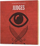 Judges Books Of The Bible Series Old Testament Minimal Poster Art Number 7 Wood Print
