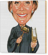 Judith Sheindlin As Judge Judy Wood Print