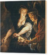 Judith With The Head Of Holofernes Wood Print