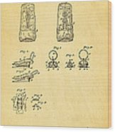 Judson Zipper Patent Art 1893 Wood Print