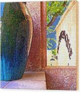 Jug And Window Wood Print