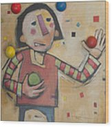 Juggler With Balls  Wood Print