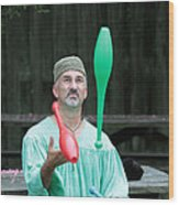 Juggling Wood Print by Dwight Cook