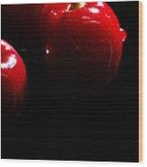 Juicy Cherries Wood Print