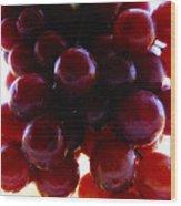 Juicy Grapes Wood Print