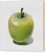 Juicy Green Apple Wood Print