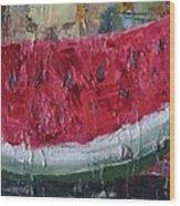 Juicy Watermelon Slice - Sold Wood Print