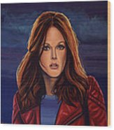 Julianne Moore Wood Print