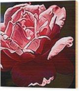 Julie Pinked Wood Print