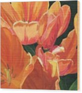 Julie's Tulips Wood Print