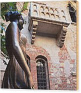 Juliet's Balcony In Verona Italy Wood Print