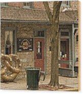 Julius Sturgis Pretzel Factory Wood Print