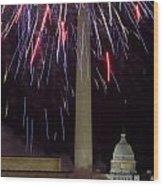 July 4th Fireworks Wood Print by JP Tripp