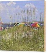 July 4th On The Beach Wood Print