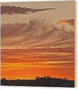 July 4th Sunset Wood Print