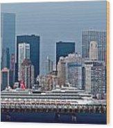 July 7 2014 - Carnival Splendor At New York City - Image 1674-01 Wood Print