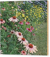 July Garden Wood Print